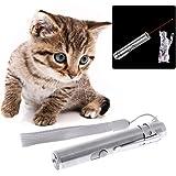 Qiman 3 in 1 Katze LED Chase Spielzeug Licht Pointer Pen USB Wiederaufladbare Taschenlampe Stift, Katze Licht Spielzeug