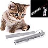 Yifeict 3 in 1 penna puntatore LED Chase gatto giocattoli penna USB ricaricabile torcia