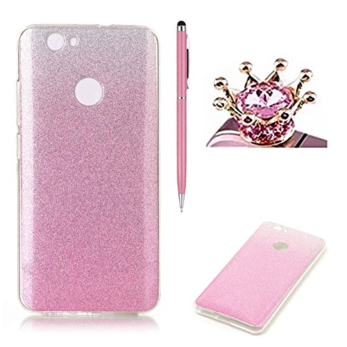 huawei-nova-caseskyxd-gradient-color-pink-luxury-sparkle-glitter-slim-soft-flexible-silicone-protect
