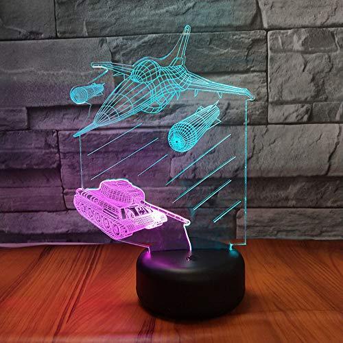 Top Qualität 3D Mischfarbe Lampe 7 Farben Ändern Baby Kind touch Nachtlicht Kämpfer tank Tischprojektion LED geschenk Lampe - Küken Tank Top