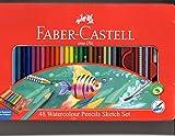 #5: Faber Castell 48 Watercolour Pencils Sketch Set - Tin Box