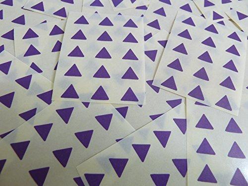 Pequeño 10mm Triangular Morado Oscuro Violeta Código De Color Pegatinas, 150 autoadhesivo Triángulos De Triángulo Adhesivo Etiquetas Colores