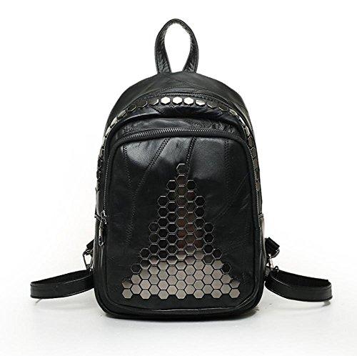 GBT Die neue Schulter-Beutel-Art- und Weisebeutel-Leder-Handtaschen-Explosion modelliert Rucksack Black