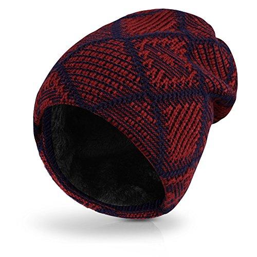 Vbiger Berretti in maglia Cappello Invernale Beanie Unisex Cappello da Sci Cappello in Maglia