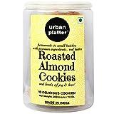 #2: Urban Platter Roasted Almond Cookies, 10 Cookies, 280 Grams Jar [All Natural, Hand-made, Gourmet Cookies]
