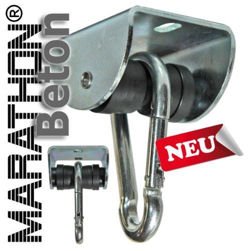 Preisvergleich Produktbild Rollengelenk BETON m. Montageset (MAR.1), sicherer Schaukelhaken, Schaukelgelenk mit Kugellager in Einem