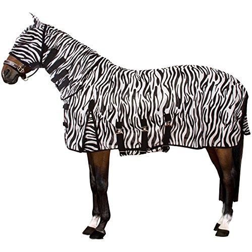 Imperial Riding - UV/Fly blanket ZEBRA - Fliegendecke mit UV-Schutz, Hals, Maske und Bauchlatz - Zebra - 135