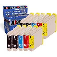 10x Compatible Cartucho de tinta Brother LC-1000 /LC-970 reemplazar para Brother DCP-135C DCP-150C DCP-157C DCP-130C MFC-235 C MFC-240C MFC-465CN DCP-330C DCP-330CN DCP-525C DCP-350CJ DCP-525CJ DCP-530C DCP-535C DCP-535CN DCP-540CJ DCP-550CJ DCP-560CN
