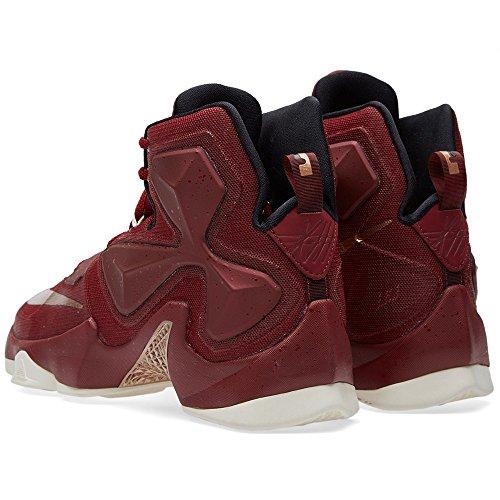 Nike Lebron Xiii, Chaussures de Sport-Basketball Homme, Taille Rouge / blanc / noir / argenté (rouge équipe / rouge bronzé métallique - noir - voile)