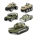 Juego - Army Set I 5 Mezzi Di Trasporto Militari I Riproduzione Originale I Giocattoli Prima Infanzia I Testati Per I Bambini - Multicolore