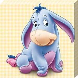 Official Disney Character Canvas Print 25 x 25cm Walt Disney's Winnie the Poohs Loveable Friend Eeyore is a Baby Again