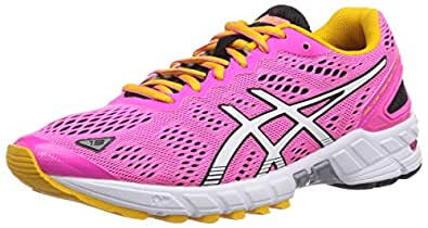 Asics Gel-Ds Trainer 19 Neutral, Chaussures de trail femme - Rose (3501-Neon Pink/White/Black), 44 EU (9.5 UK)