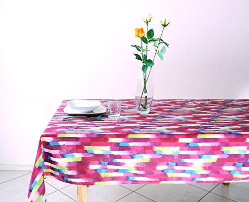 Tovaglia Rettangolare Cucina Loneta in Policotone mis. 140 x 240 cm colore Rosso