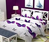 Singhsvillas Decor The Intellect Bazaar 144 Tc Kids Polyester Double Bedsheet With 2 Pillow Covers - Queen Size, Multi
