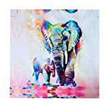 Lalang Painting on Canvas Elephant Painting Modern Art Wall Decor (50*50cm)