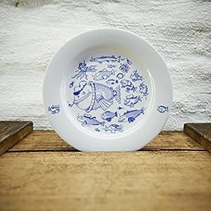 Maritimer Teller Fischschwarm - Handmade von Ahoi Marie - Porzellan Speiseteller original aus dem Norden