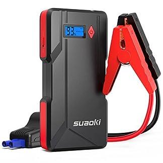 51fcv8MB7jL. SS324  - SUAOKI P6 arrancador de Coche 800A Batería de automóvil máxima (hasta 6.0 litros de Gasolina o Diesel de 5.0 litros) con Pantalla LCD Puerto Dual USB, Banco de energía Linterna