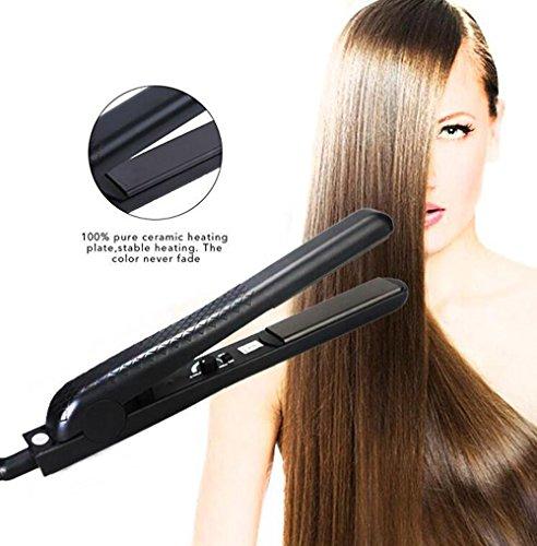 Enderezadora profesional del pelo para el pelo brillante sedoso, hierro plano de la calefacción rápida control de la temperatura de 1 pulgada que endereza el hierro con cerámica