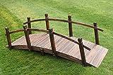 Gartenbrücke aus Holz, 2 m breit