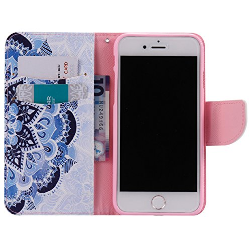 WYSTORE apple iphone 7 Coque,Flip Style Ultra Slim PU Cuir Couverture Wallet Case Avec SupportFonction Coque Magnetic Closure PU Étui Portefeuille -W23 Q09