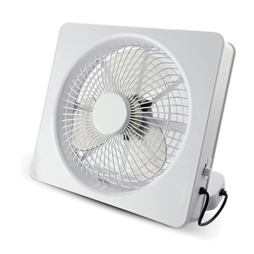 Welltop 6 pulgadas portátil USB Ventilador o AA con pilas ventiladores de tabla Ángulo ajustable 2 velocidad de enfriamiento cuadrados de escritorio del ventilador eléctrico de ventiladores personales ventilador del ordenador portátil (Blanco)
