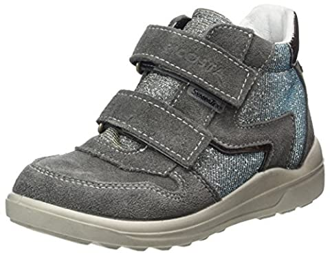 Ricosta Mädchen Karin Hohe Sneaker, Grau (Patina/Himmel), 35 EU (Ricosta 35)