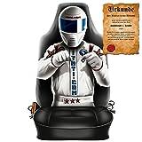 Scherzartikel - Sitzbezug für Autos Motiv Race Driver ein Frauentraum schlechthin lustige Geschenkidee Autositzbezug mit lustiger Urkunde