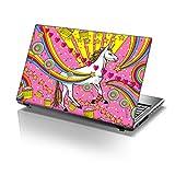 12 inch TaylorHe Skins TaylorHe 39,6cm 38,1cm Notebook Skin Vinyl Aufkleber mit farbigen Mustern und Leder Effekt Laminat hergestellt in Großbritannien Sparkles Unicorn