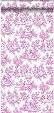 papier peint toile de jouy rose - 136819 - d'ESTAhome.nl