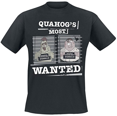 les-griffin-quahogs-most-wanted-t-shirt-noir-l