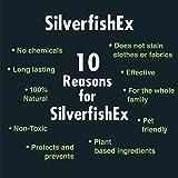 Silberfische Spray SilverfishEX | BIO Mittel gegen Silberfische | Silberfischfalle Alternative | Effektiv Silberfische bekämpfen OHNE Tierquälerei Vergleich