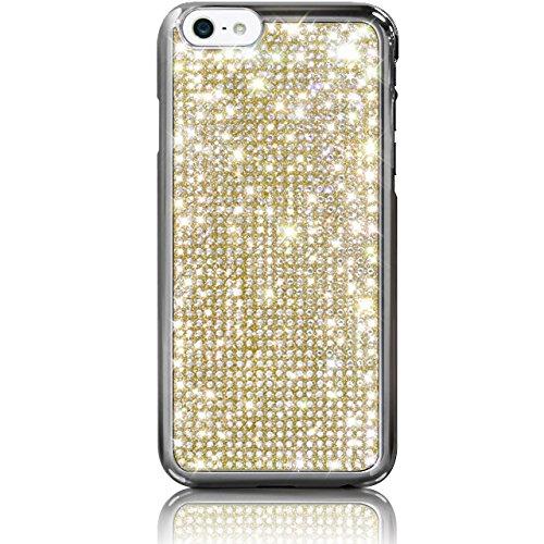 """iPhone 6s / 6 (4.7"""") Novoskins Gold Oro Cristallo Chic Luxe Hard Case realizzato con Swarovski Elements"""