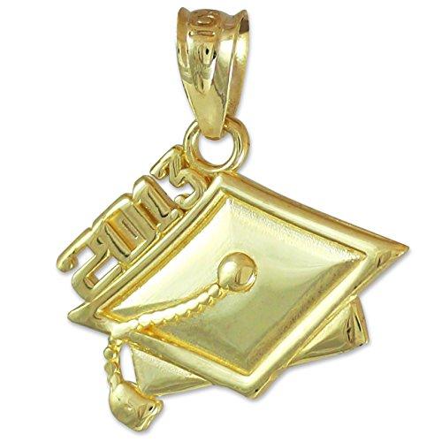 a48cb027fbb6 10 quilates 471 1000 Graduación 2013 Oro Colgante collar (Libro Con Cadena  45cm)