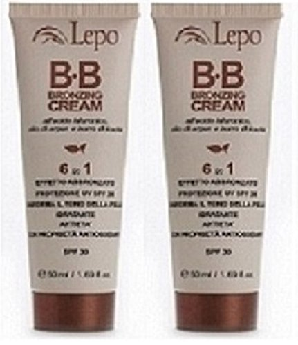 lepo-bb-bronzing-cream-spf-30-2-packs-of-50-ml-hydrating-protects-from-uv-smoothens-the-colorito