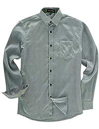 1f7860e7122b1 Melodycp Camisa de Ajuste estándar para Hombre Camisa de Manga Larga de  algodón para Hombres Suave