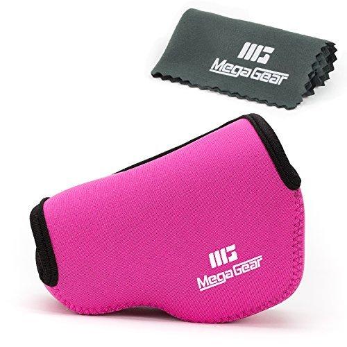 MegaGear Fotocamera Custodia Pelle Neoprene Borsa Per Fujifilm X30 Fotocamera Digitale Compatte (Rosa)