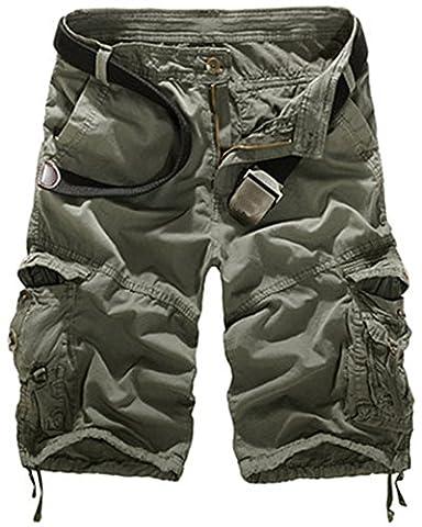 Short Court Coton Homme - Mochoose Homme Pantalons Courts Coton de L'été