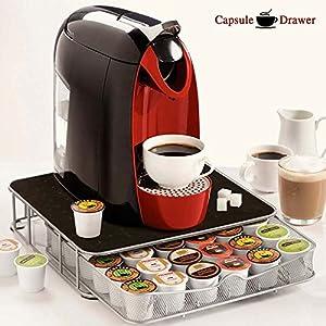 BAKAJI Contenitore Porta Capsule Cialde caffè Metallo 30-60 Posti Coffee Capsule Drawer, cassetto per la conservazione…