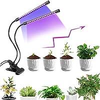 Lampada per Piante, Lampada Led pianta Luce, 40 LED Lampada Crescente Timer 3/9 / 12H, commutazione dello Spettro, Collo di Cigno Regolabile per Giardino Interno