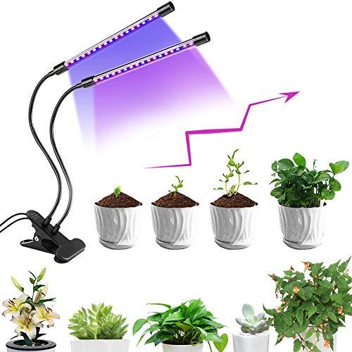 Lámpara de Crecimiento, Lampara de Cultivo, Lámpara de Plantas, 40 LED Cultivo Luz de Plantas Lámpara para Plantas, Rotación de 360°, 5 Niveles Regulables y Función de Temporizador