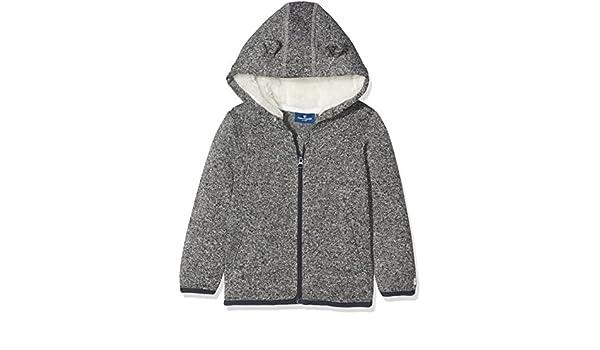TOM TAILOR Kids Baby-Jungen Jacke Knit Optic Fleece Jacket, Grau (Medium  Grey Melange 2482), 92  Amazon.de  Bekleidung 8bb2c37cdc