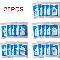 25 delantales desechables, resistentes al agua de alta densidad PE materia para niños desechables delantales multifuncionales para ollas calientes/barbacoas