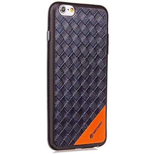 EKINHUI Case Cover Ganzkörper-Schutzhülle Soft TPU Silikon Weberei Style Pattern Cover Antishock Back Cover Shell Für iPhone 6 Plus & 6s Plus ( Color : Blue ) Blue