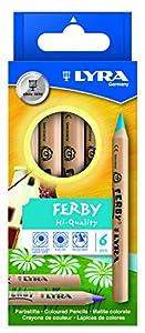 LYRA 970K06 Ferby - Lápices de Colores de Madera (6 Unidades) Importado de Alemania