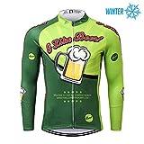 Thriller Rider Sports Uomo I Like Beer Sport e Tempo Libero Abbigliamento Ciclismo Magliette Inverno Termico Caldo Giacca 3X-Large