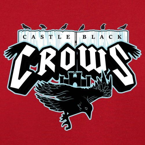 Castle Black Crows - Herren T-Shirt - 13 Farben Rot