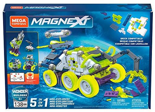 Mega Construx GFF26 - Magnext 5-in-1 Mag-Roboter magnetische Bausteine und Kugeln Bauset mit 138 Bausteinen, Spielzeug ab 5 Jahren