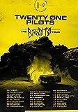 Desconocido Twenty One Pilots Gabardina Us Norteamérica 2019 el Bandito Tour Póster Foto Tyler Josh Mono Estresado out 042 (A5-A4-A3) - A5