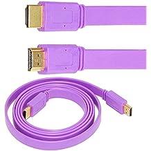 Miss U 3 MTR V1.4 Support 1080p 4k 2k 3d for Ps Xbox Pc Hdtv Projector HDMI Cable (PURPLE)