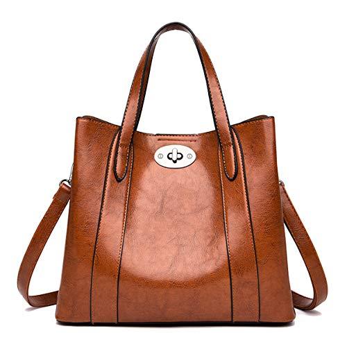 NIYUTA Damenhandtaschen Mode Schultertaschen Shopper Umhängetaschen - Krokodil Geprägtes Leder Handtasche